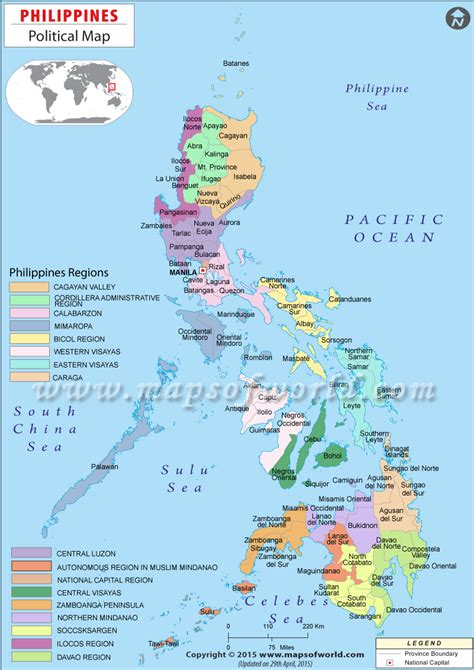 printable map philippines political map of philippines places to visit pinterest
