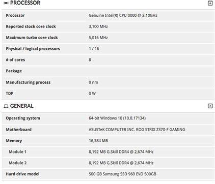 le comptoire du hardware le i9 9900k sous 3dmark le comptoir du hardware