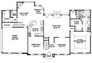 653907 traditional 4 bedroom 2 5 bath house plan