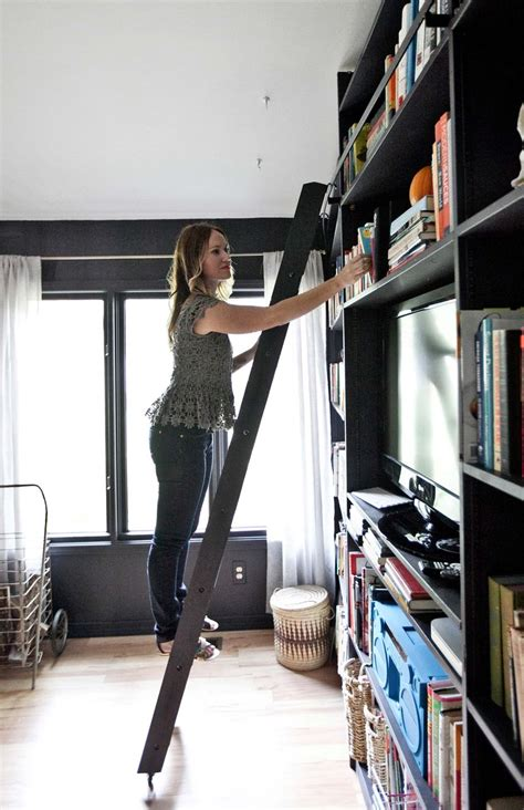 Ladder Bookcase Black Home Tour Emma S Living Room A Beautiful Mess