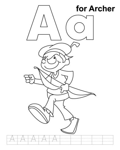 coloring page letter aa 8 best images of letter aa printable coloring pages