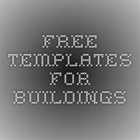 Free Templates For Buildings Train Model N Scale Pinterest Template Model Train And Scale Free Building Templates