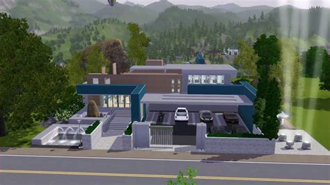 How To Find Blueprints Of Your House Sims 3 Pool Amp Fitness Centre No C C Community Lot Modern