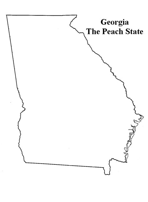 georgia state coloring pages coloringpagesabc com