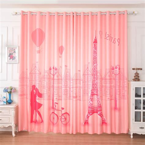 paris bedroom curtains pink dreamy paris curtains for girls bedroom