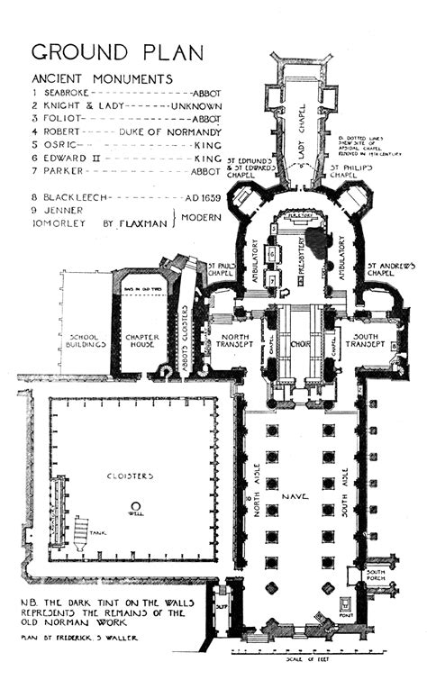 cathedral floor plan medieval gloucester cathedral plans and drawings
