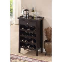 Wine Storage Cabinet Atlanta Brown Wood Modern Wine Cabinet