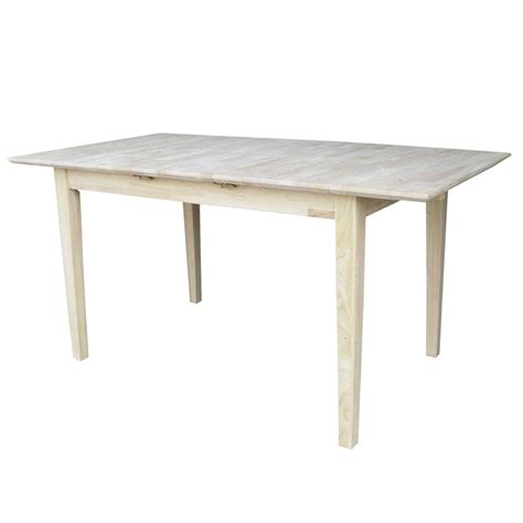 Unfinished Dining Tables International Concepts Unfinished Dining Table K T32x 30s The Home Depot