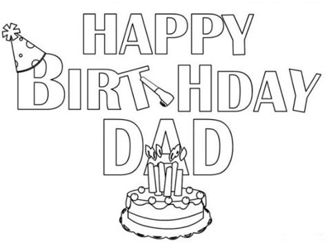 imagenes happy birthday daddy 60 im 225 genes de feliz cumplea 241 os para colorear colorear