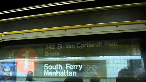 ferry bound video south ferry bound r62a 1 train 28th street youtube