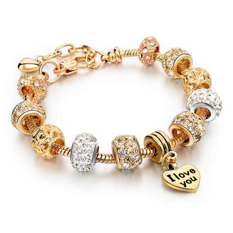 Harga Shoo N Shoulders gold charm bracelet uniqistic