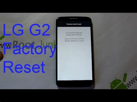 reset android lg g2 how to factory reset the lg g2 stock recovery youtube