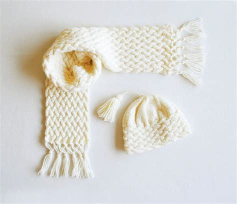 knitting pattern for hat scarf and gloves vintage knitting pattern pdf aran sweater hat scarf and
