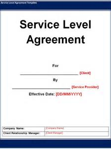 shared services service level agreement template service level agreement template word excel pdf