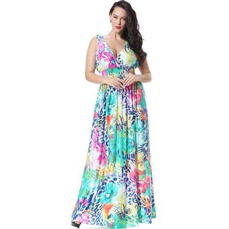 floral print summer dress big size xl 7xl sleeveless floor length maxi dress sundress 6xl