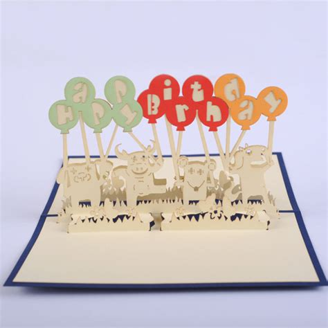 3 Up Gift Certificates 3 Up Photo Cards Photoshop Templates by Animals Balloon Birthday Card 3d Kirigami Pop Up Card
