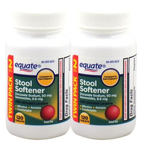 Equate Stool Softener Ingredients by Equate Stool Softener With Stimulant Laxative 240