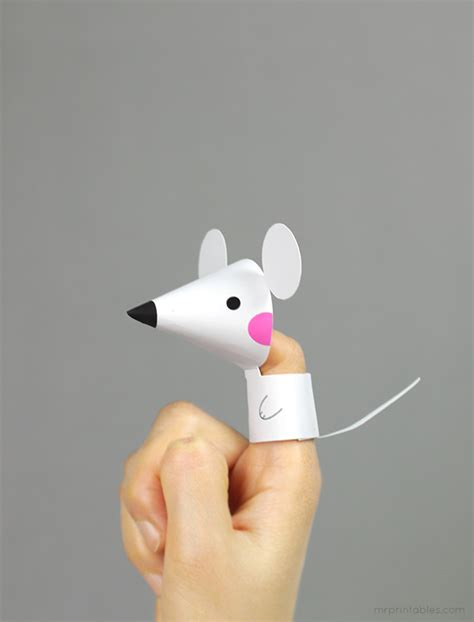 finger mouse template farm animal finger puppets