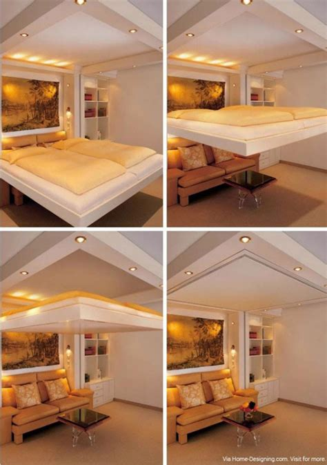 space saving concealed  ceiling bed
