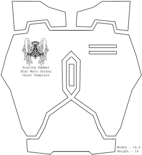 armor templates wars diy wars galaxy armor templates with updated