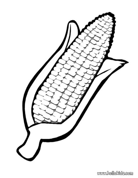 coloring page of indian corn corn template activity idea place fall pumpkins