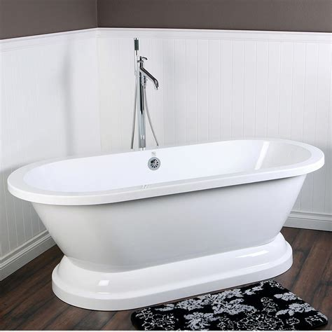 pedestal bathtubs kingston brass aqua eden vtpe672824p contemporary pedestal