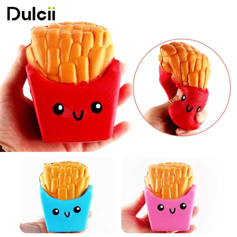 Squishy Anggur Anti Stress Splat Squish Promo dulcii anti stress squishy rising relief fries squishi pu squishy toys squeeze