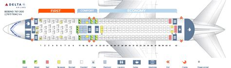 76w aircraft seating delta boeing 767 seating chart images