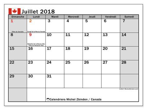 Canada Calendrier 2018 Calendrier Juillet 2018 Canada