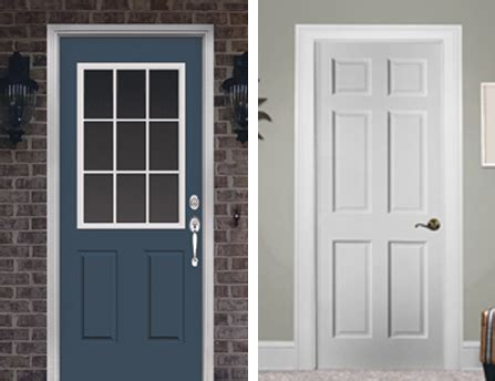 Menards Doors Exterior Menards Exterior Doors Commander 174 C 4 Primed Steel 9 Lite Prehung Ext Door At Menards 174