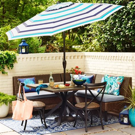 shop allen roth chesterbrook  piece patio dining set