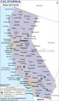 map de california mapa de california map