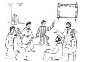 jesus teaching in the synagogue coloring page coloring pages