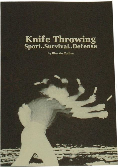 the book by blackie knife throwing book by blackie collins paperback