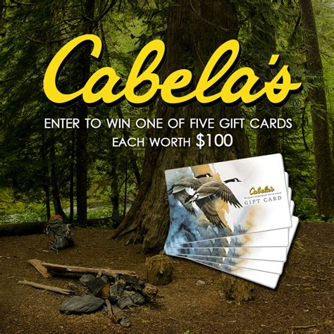 Can You Use Cabela S Gift Card At Bass Pro - win one of five 100 cabela s gift cards giveaway