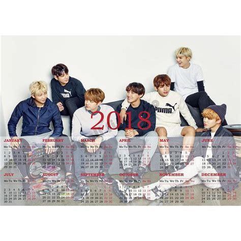 Calendario Kpop Calendario 2018 Bts Kpop La Vida De Kpop