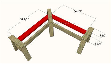 corner bench plans outdoor plans diy shed wooden