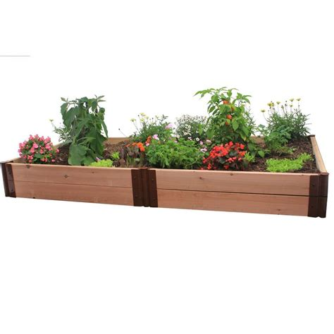 Frame It All Raised Garden Bed Kit Frame It All Two Inch Series 4 Ft X 8 Ft X 12 In Cedar Raised Garden Bed Kit 300001128 The