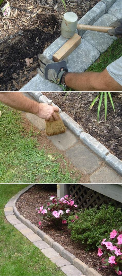 edging flower beds brick paver edging between grass and flower bed diynot forums