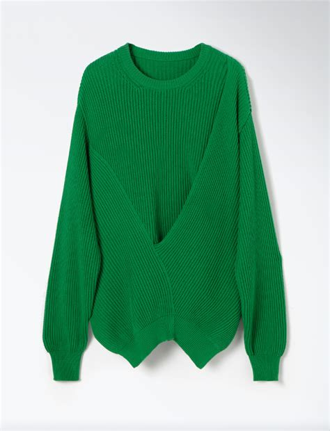 Sweater Stitch joseph oversized cardigan stitch sweater in green bottle green lyst