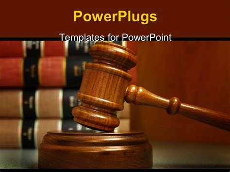 ppt themes related to law powerpoint template a gravel and a number of law related