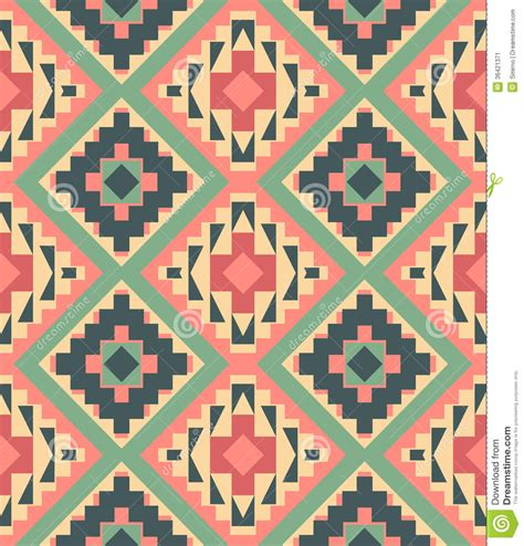 aztec pattern stock seamless colorful aztec pattern stock vector