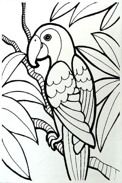 Cat Akrilik Non Toxic jual paket mewarnai kanvas burung edutoys murah
