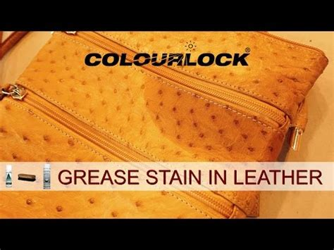 how to remove grease stain from leather sofa leather furniture grease stains doovi