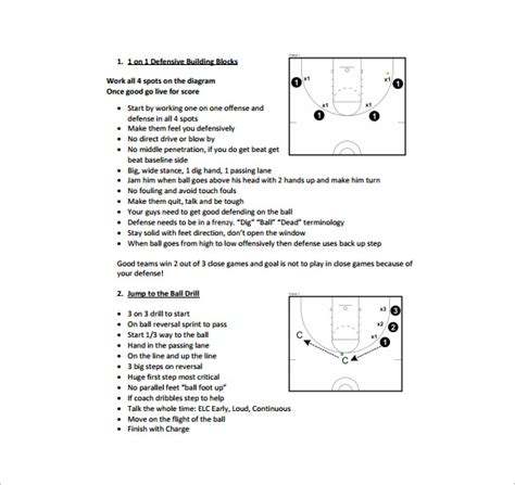 practice plan template 11 basketball practice plan templates free sle