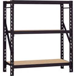 heavy duty bookshelves edsal heavy duty welded storage rack 60in w x 18in d x 66in h 3 shelves model erz601866pb3