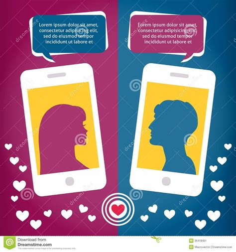images of virtual love couple virtual love talking using mobile phone stock image