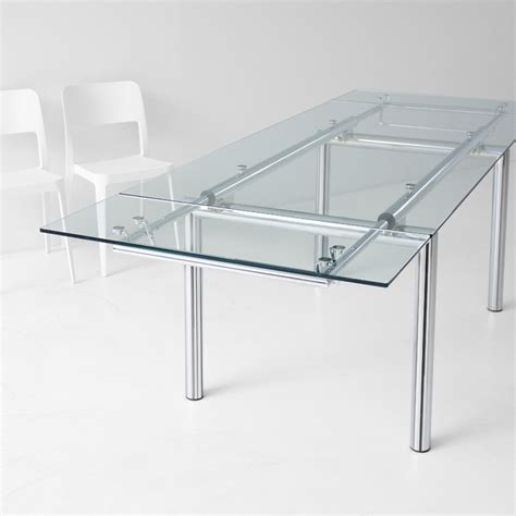base tavolo cristallo tavolo allungabile di design in cristallo mambo r arredas 236
