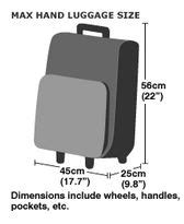 easyjet cabin baggage dimensions 2012 baggage allowances