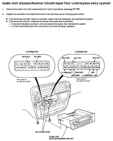 98 civic wiring diagram radio wiring diagram